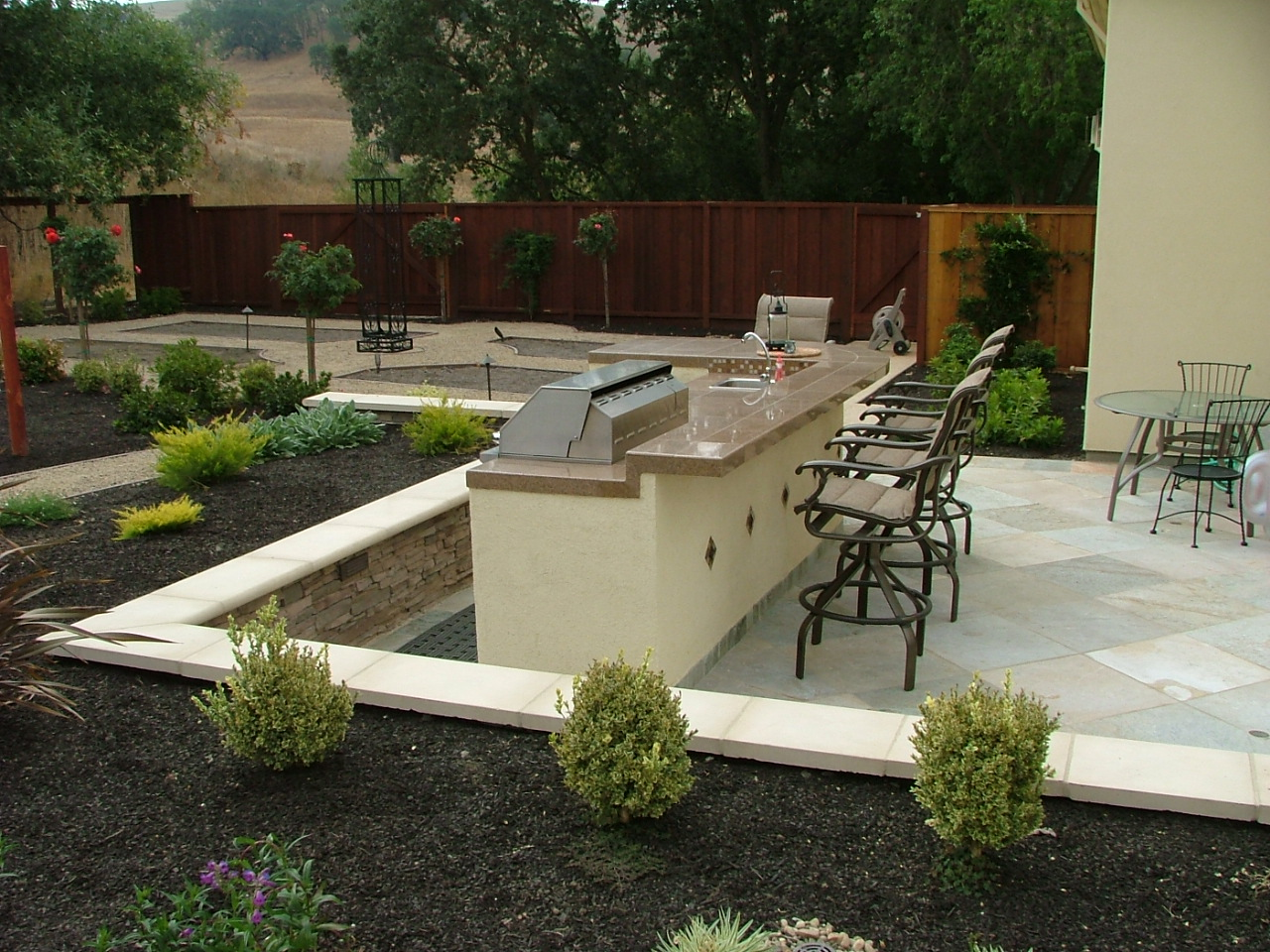 New residential landscape design and construction for Residential landscape designer