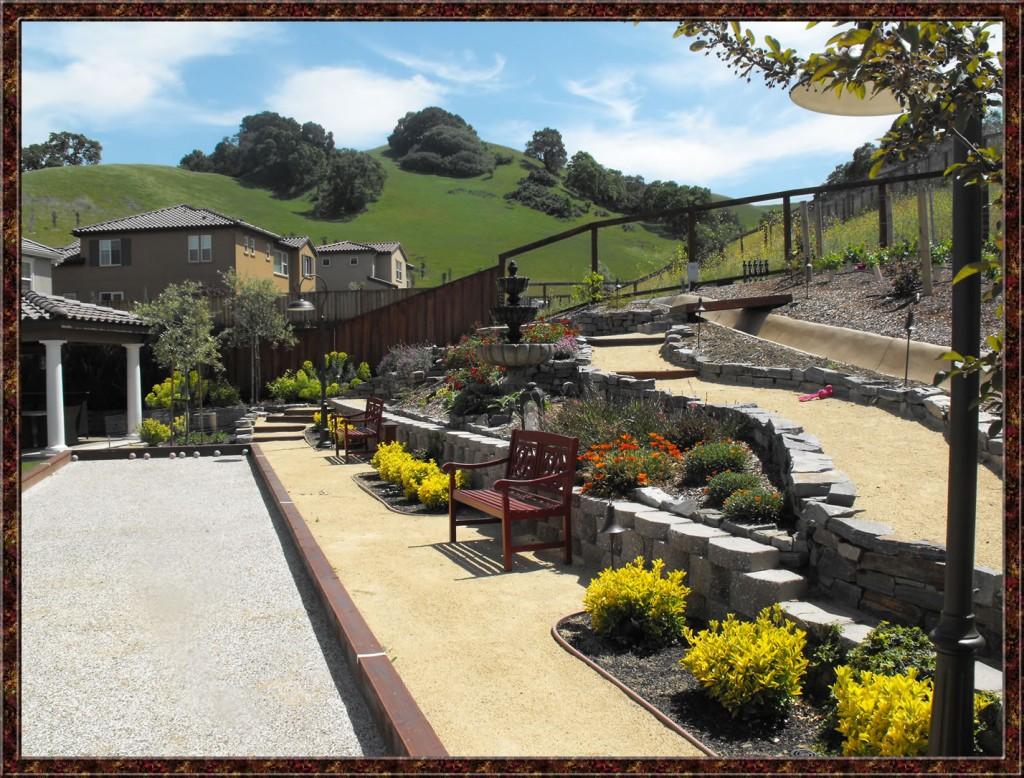 Before and after sloped landscaping jennifer craven landscape designer